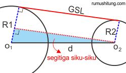 singgung lingkaran luar rumus mencari panjang busur pada lingkaran