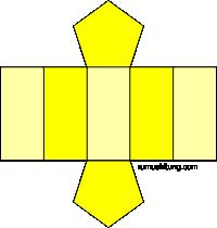 gambar jaring-jaring prisma segilima model 1