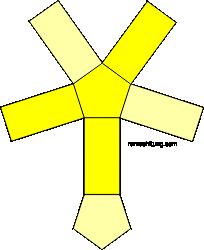 gambar jaring-jaring prisma segilima model 2