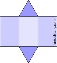 gambar jaring-jaring prisma segitiga model 1