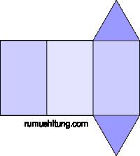 gambar jaring-jaring prisma segitiga model 2