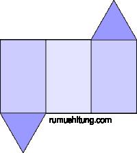 gambar jaring-jaring prisma segitiga model 3
