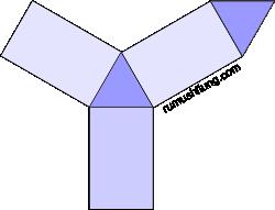 gambar jaring-jaring prisma segitiga model 4