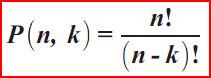 permutasi dan kombinasi, rumus permutasi matematika