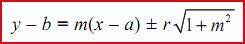 rumus garis singgung lingkaran 2