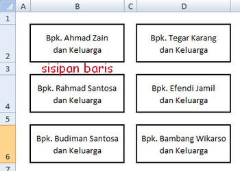 contoh membuat list nama undangan