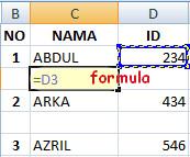 menyisipkan formula