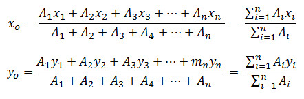 rumus saatitik berat benda homogen 2 dimensi
