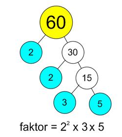 contoh faktorisasi prima