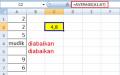 Mencari Rata-Rata dengan Ms. Excel