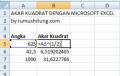 Rumus Akar Kuadrat dengan Excel