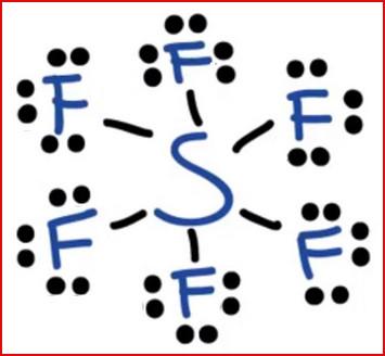 struktur lewis SF6