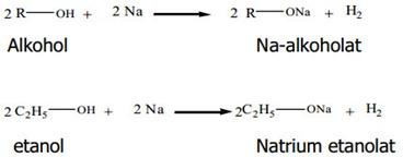 ... air maka akan kembali menjadi alkohol dan natrium hidroksida (NaOH