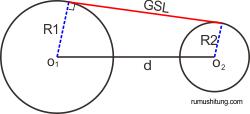 garis singgung dua lingkaran, persamaan garis singgung lingkaran luar