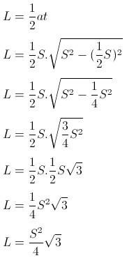 pembuktian rumus luas segitiga sama sisi