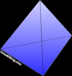 bangun limas segi tiga