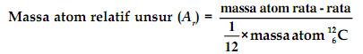 rumus massa atom relatif