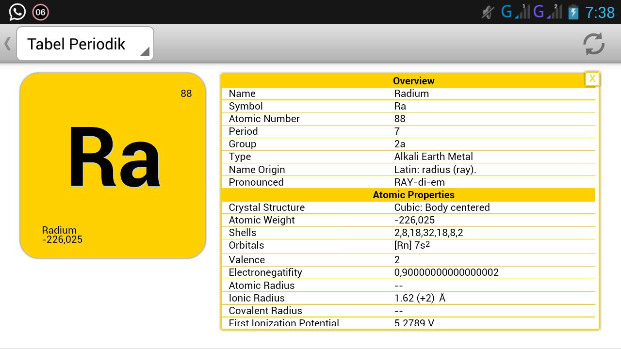Aplikasi tabel periodik unsur di android rumushitung detail dari unsur radon urtaz Gallery