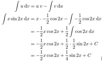 jawaban soal integral parsial nomor 2